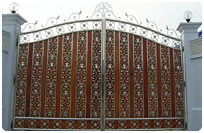Wooden Stainless Gate